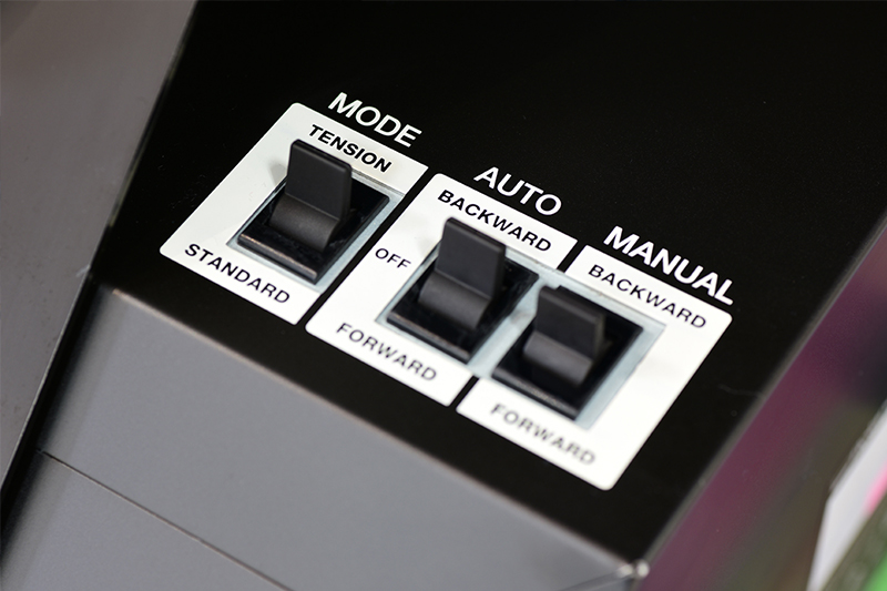 close up of controls on TU4 optional take-up device