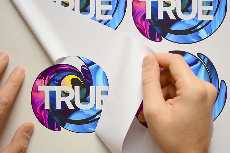 Die-cut stickers printed and cut on the TrueVIS VG2