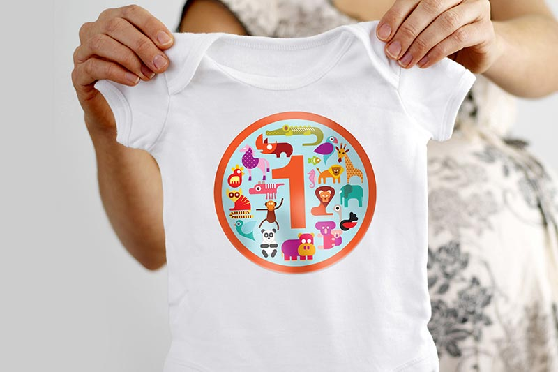 SG Series Printer/Cutters personalized apparel baby onesie