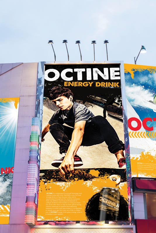 Octone Energy Drink banner - SG Series Printer/Cutters