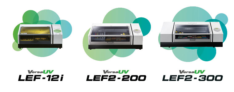There are three models in the Roland VersaUV LEF benchtop UV printer range