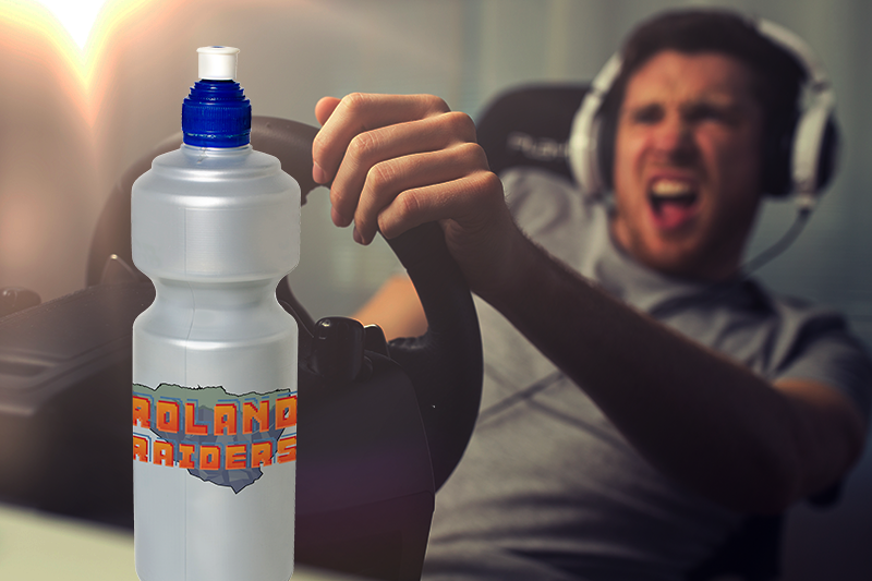 printing on bottles for video game promotion
