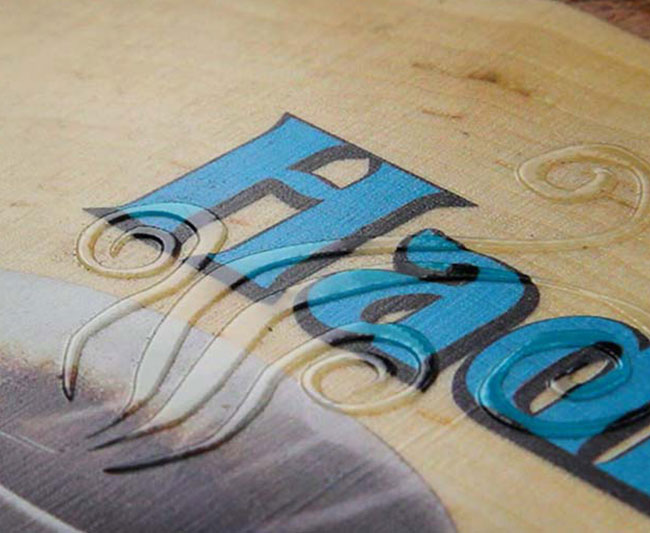 printing directly onto wood using uv technology