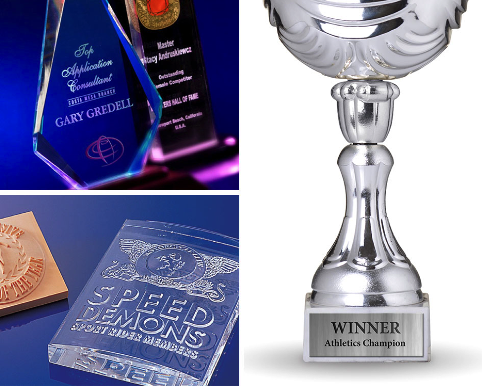 Roland engravers are perfect for trophies and plates