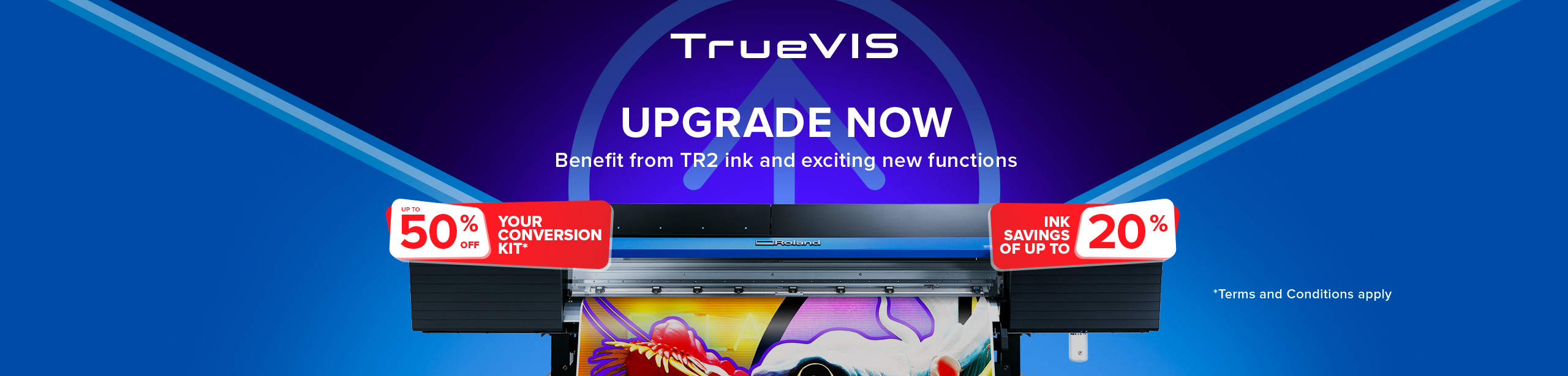 Upgrade your TrueVIS VG or SG printer/cutter today!