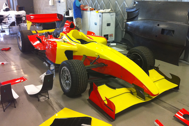 A1 GP race series pit lane wrap repair service created using knifeless tape