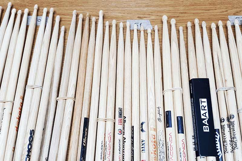 printing on wooden items like drumsticks or pencils
