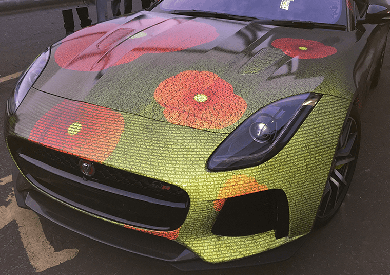 3M Scotchlite on a Jaguar F-Type
