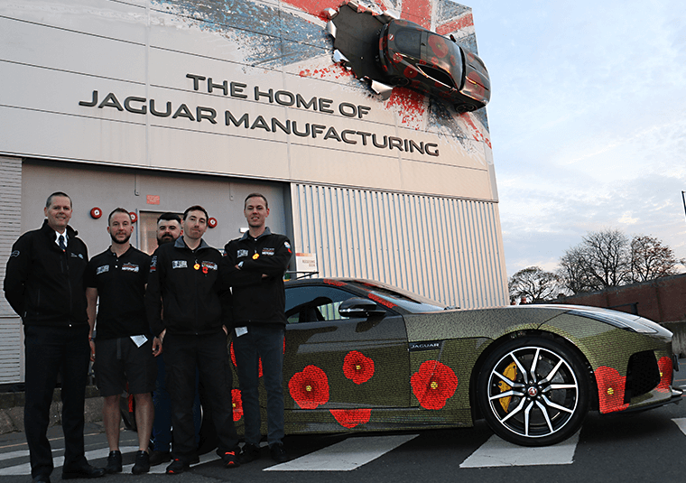 Mission motorsport team with Jaguar F-type