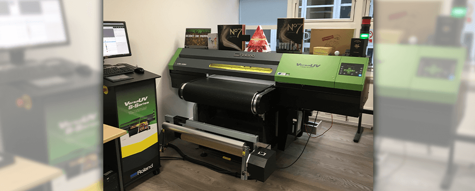 wide format packaging printing with ASG
