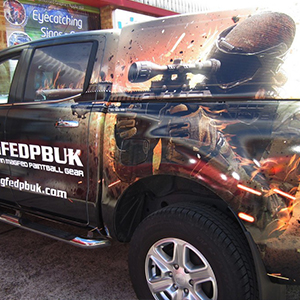 Printed vehicle graphic