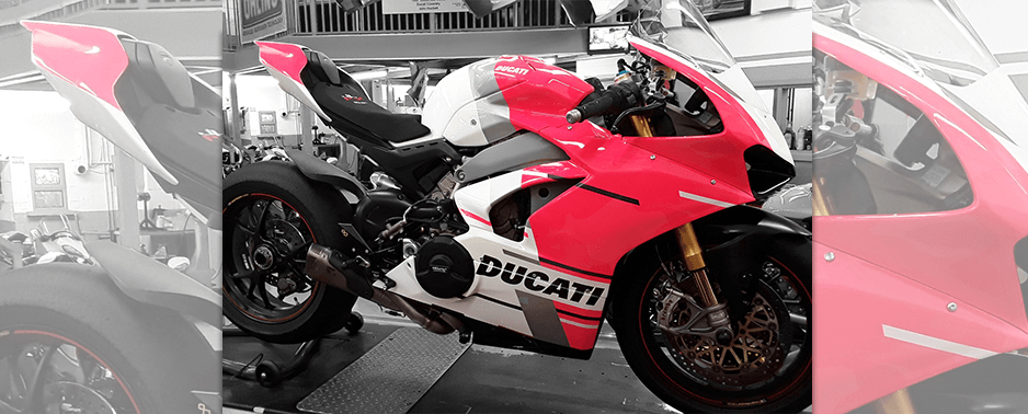 Vinyl sticker bodywork on Ducati Panigale