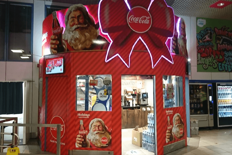Vinehall Displays create a display for coca cola's campaign