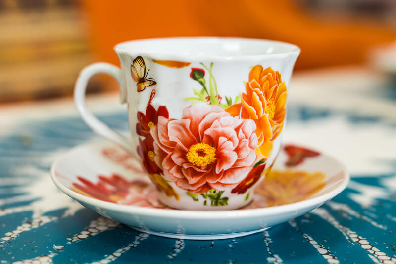 Gorgeous dyesublimated colourful floral mug