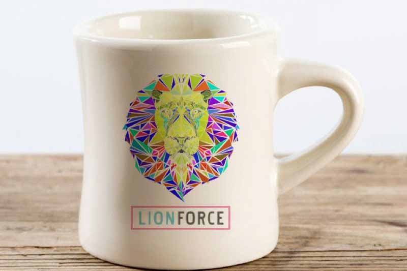 print eye catching cups and mugs with flourescent inks