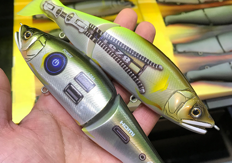 Products like these plam sized lures can be printed one at a time or in batches using a jig