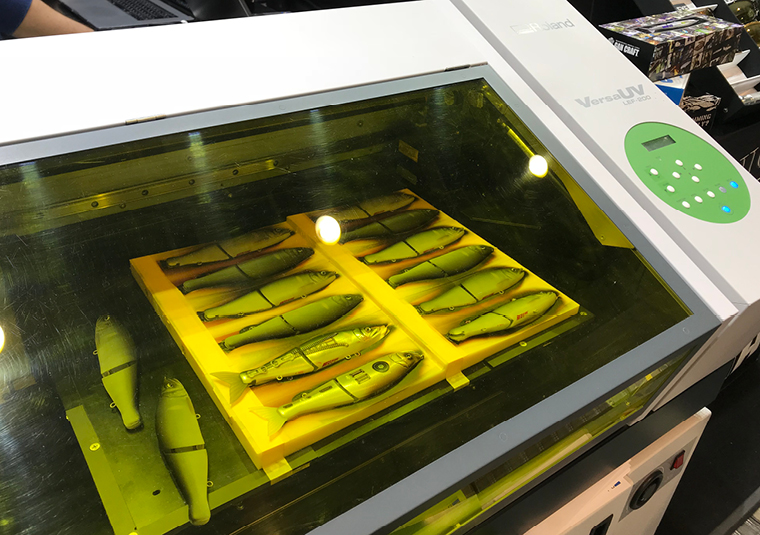 The Roland VersaUV LEF can print onto almost anything but these arent real fish