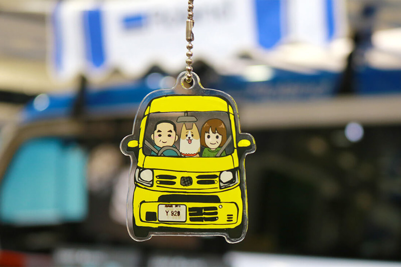 Mobile Visitors took home personalised keychains from the Honda and Roland event