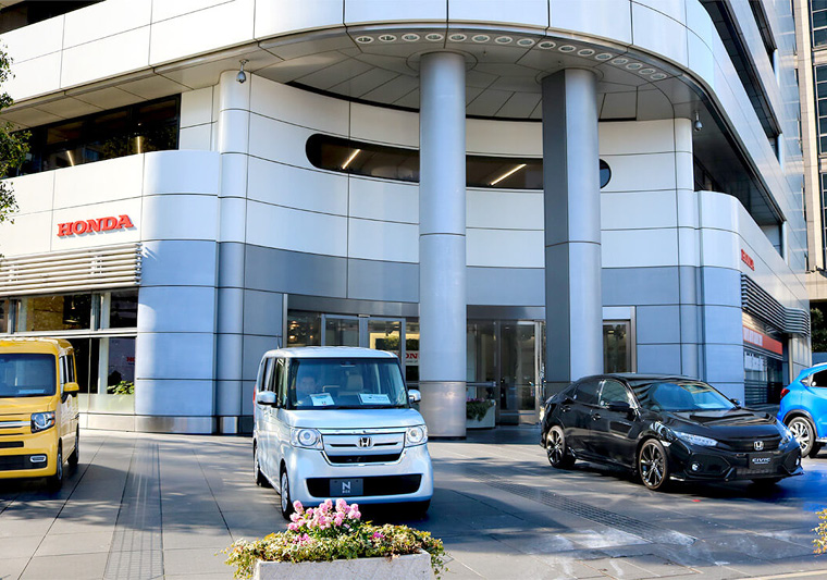 The Honda Welcome Plaza in Aoyama hosted the event