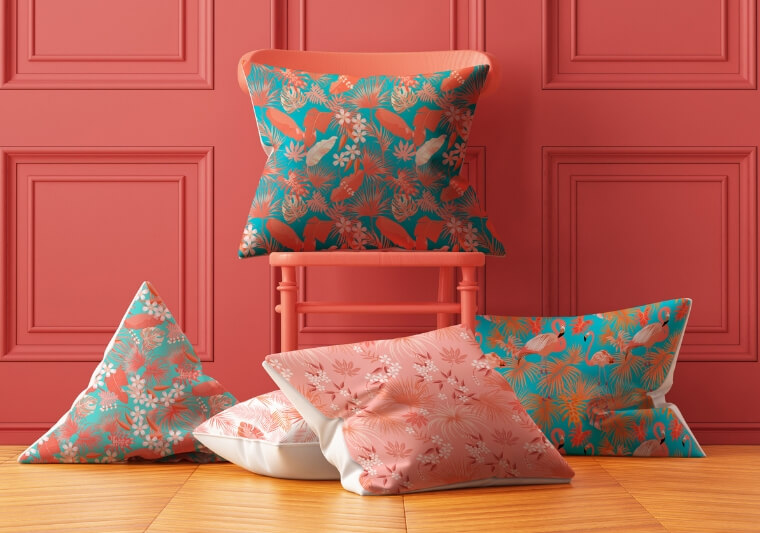 Pantone Color of the year 2019 is ideal for soft furnishings and interior decor
