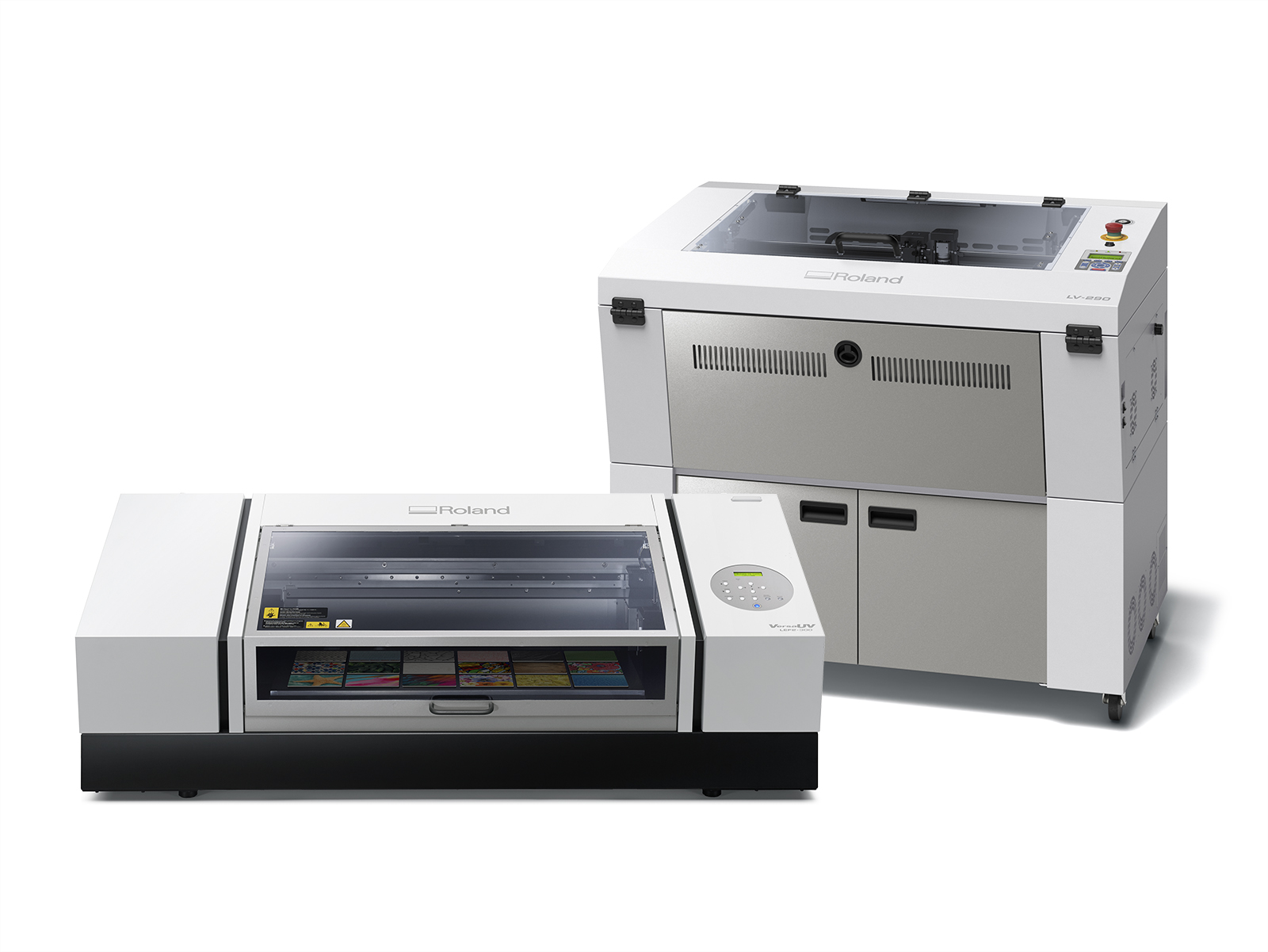 : Roland VersaUV LEF2-300 UV-LED flatbed printer and LV-290 Laser Engraver