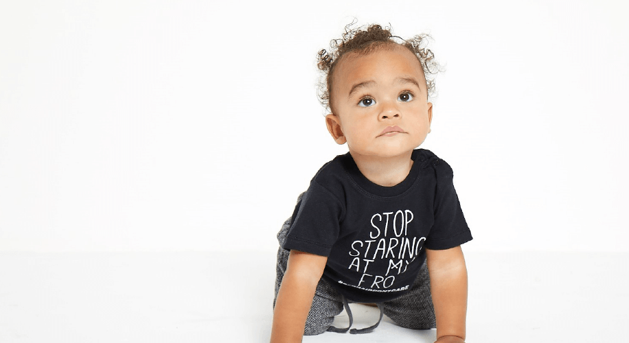 Vinyl stickers can be used on clothing for toddlers