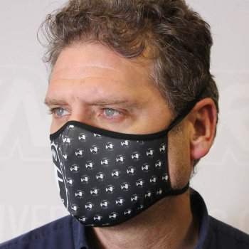 Image of a deep black mask printed with Roland technology