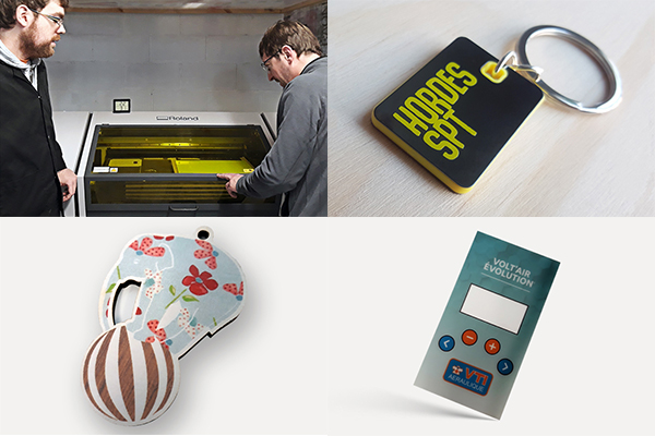 Qprint Osona has expanded its portfolio with promotional items printed by Roland DG UV printers
