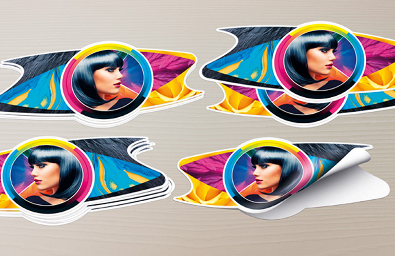 Функции печати и резки на Roland TrueVIS SG2 для производства наклеек