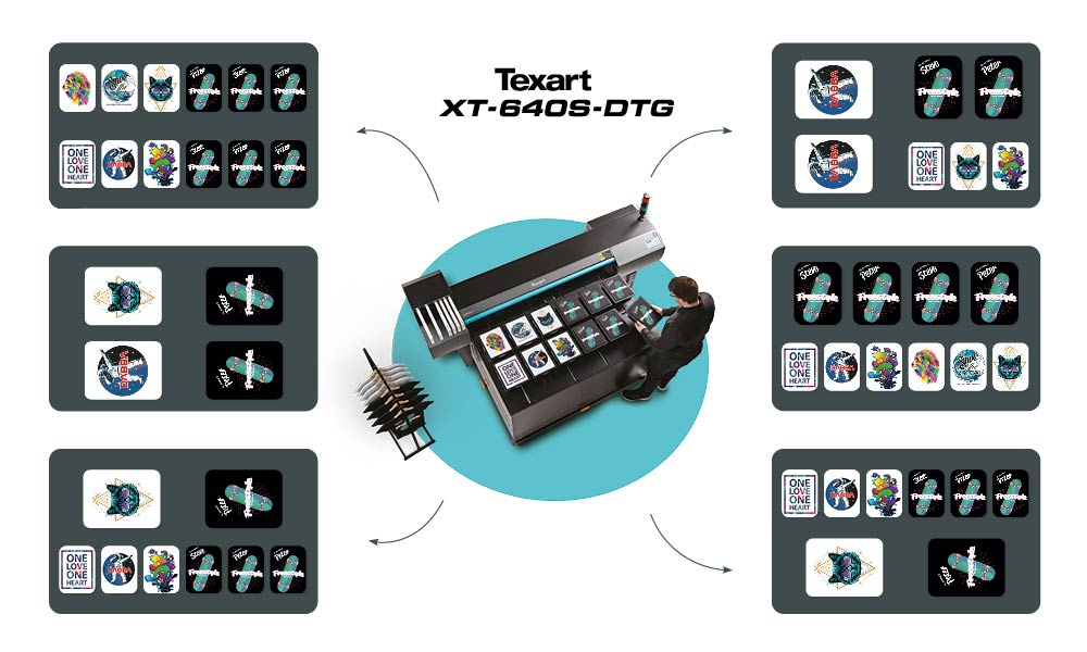 Roland XT-640S DTG Jig Infographic