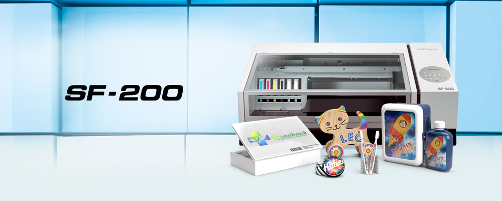 New SF-200 desktop flatbed eco-solvent printer
