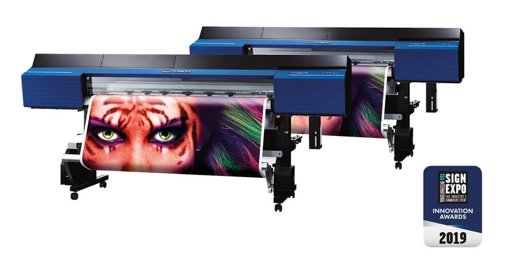 The Roland TrueVIS VG2 series print and cut machines are standout digital printers for 2019