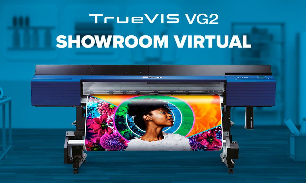 Venga a nuestro nuevo showroom virtual y descubra las impresoras/cortadoras TrueVIS VG2 de una forma completamente nueva gracias a la realidad aumentada.