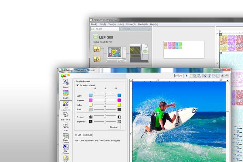 Caractéristiques du logiciel RIP VersaWorks Dual   Roland DG 675c169e806