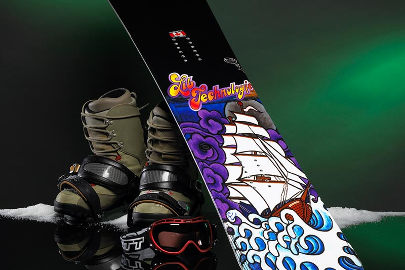 Texart RT-640 Snowboard imprimé par sublimation