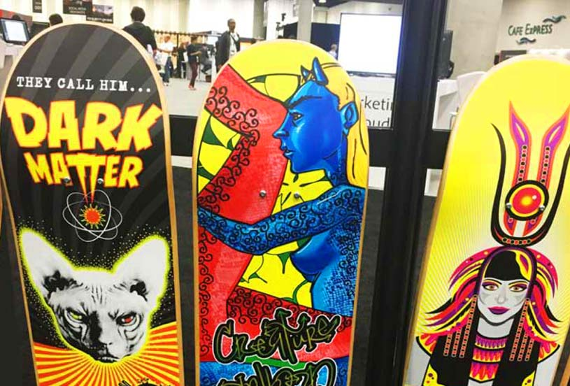 Print op skateboards