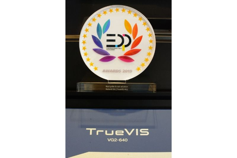 2019 EDP Award for Best Print & Cut Solution - Roland TrueVIS VG2 printer/cutters