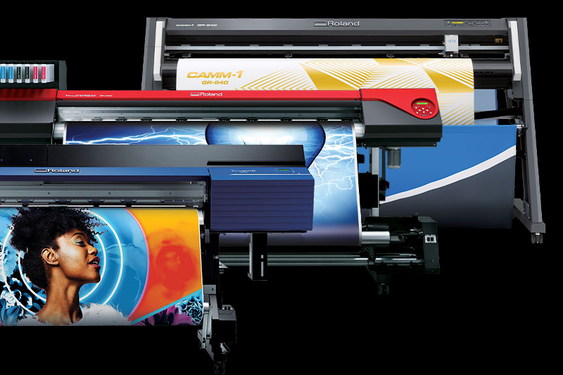 Roland Printer, Print and Cut en Snijplotter