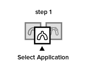 Step 1. Select Application