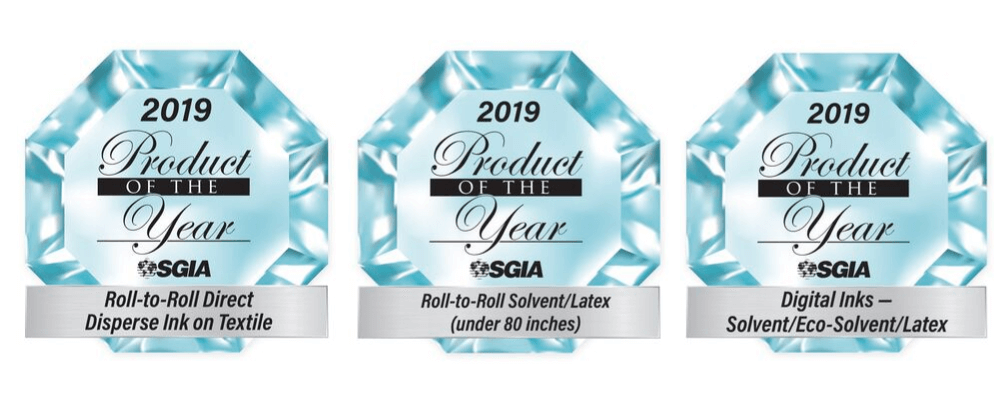 Roland DG wins three prestigious product of the year trophies at the 2019 SGIA Awards