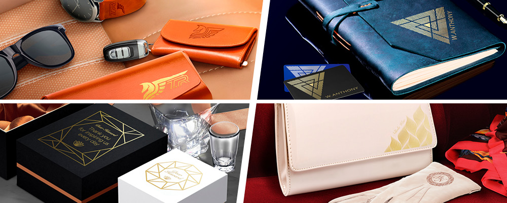 Cosmetics, gifts, stationery, accessories and leather items customised with the LD-300